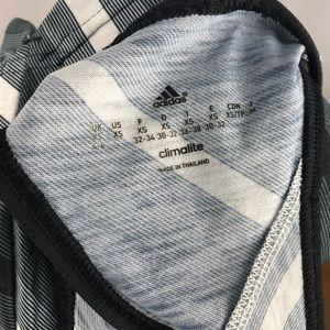 adidas Tops - Adidas Climalite Racerback Striped Grey Tank Sz XS